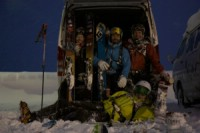 The Dream Team i Niseko, Japan. 7e januari 2011. Foto: Carl Lundberg