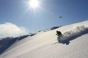 A good day heliski in Sweden. Mars 28 2011. Photo: Andreas Bengtsson