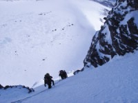 Coming up �stra leden. Ski touring Kebnekaise 7 April 2011 Photo: Magnus Strand