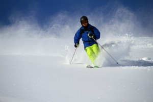 Powder skiing in April 2012. Photo: Andreas Bengtsson