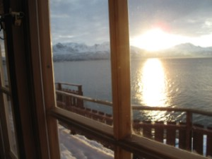 View from Trollviken Lodge towards Narvik and the Sleeping Queen. Photo Magnus Strand