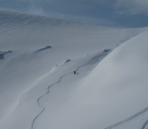Heliskiing in the Abisko area. Arctic Combo week April 2012. Photo: Magnus Strand