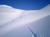 New trail in Powder snow. Photo: Andreas Bengtsson