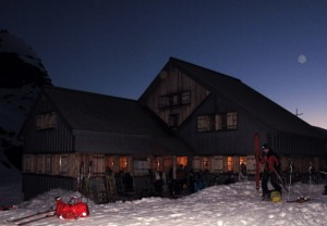 Pre-dawn start from the cosy Cabane de Prafleuri. Photo: �Lisa Auer