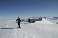 Ski touring in Sarek. 5th April 2010. Photo: Magnus Strand