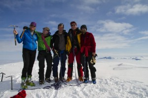On the summit of the holy mountain Akka.  9th April 2010. Photo: Magnus Strand